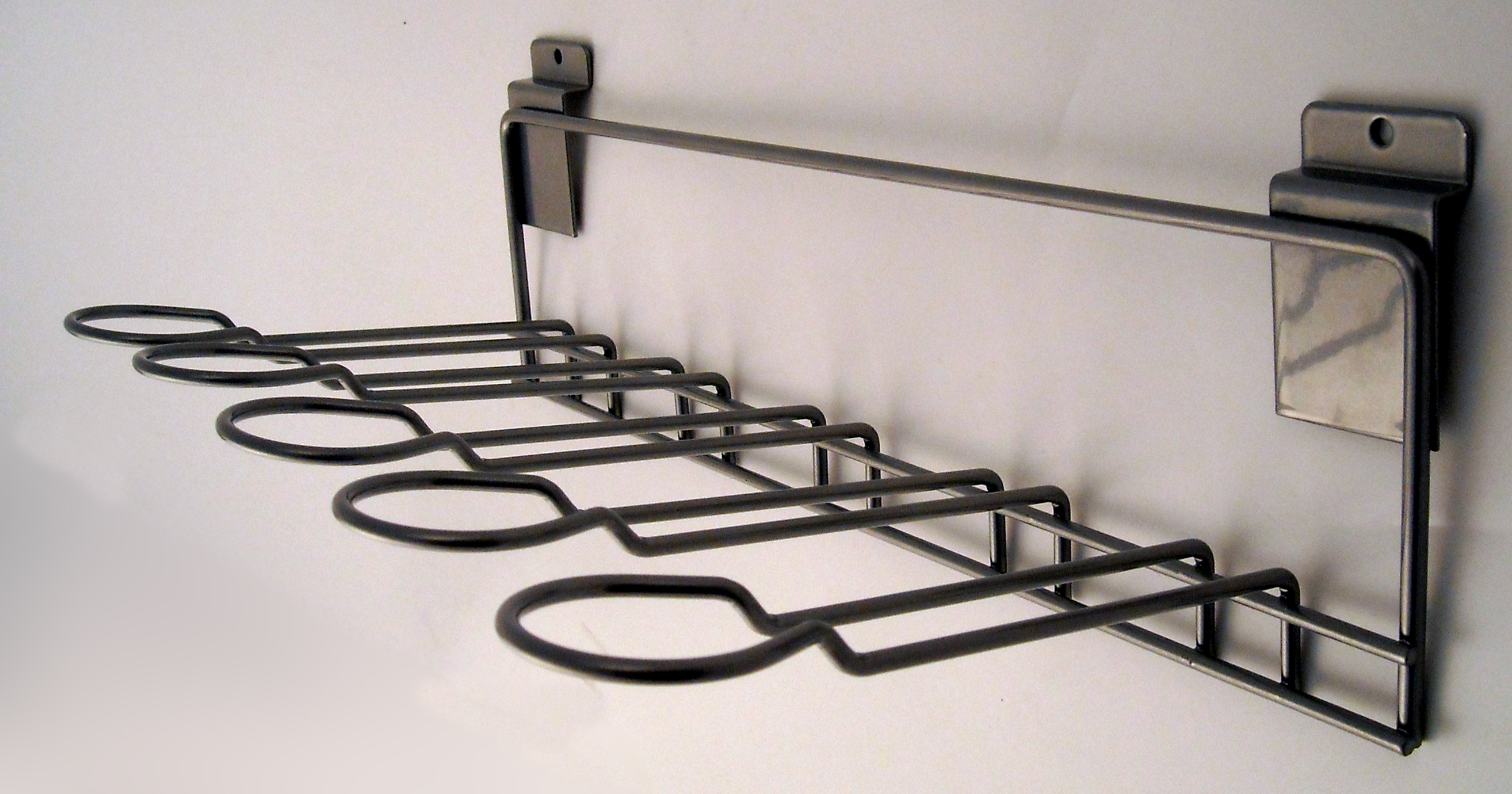 50502 Chrome Wall Whip Rack